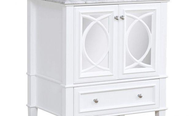 30 Bathroom Vanity with Sink and Drawers Best Of Olivia 30 Inch Bathroom Vanity Carrara White Includes Italian