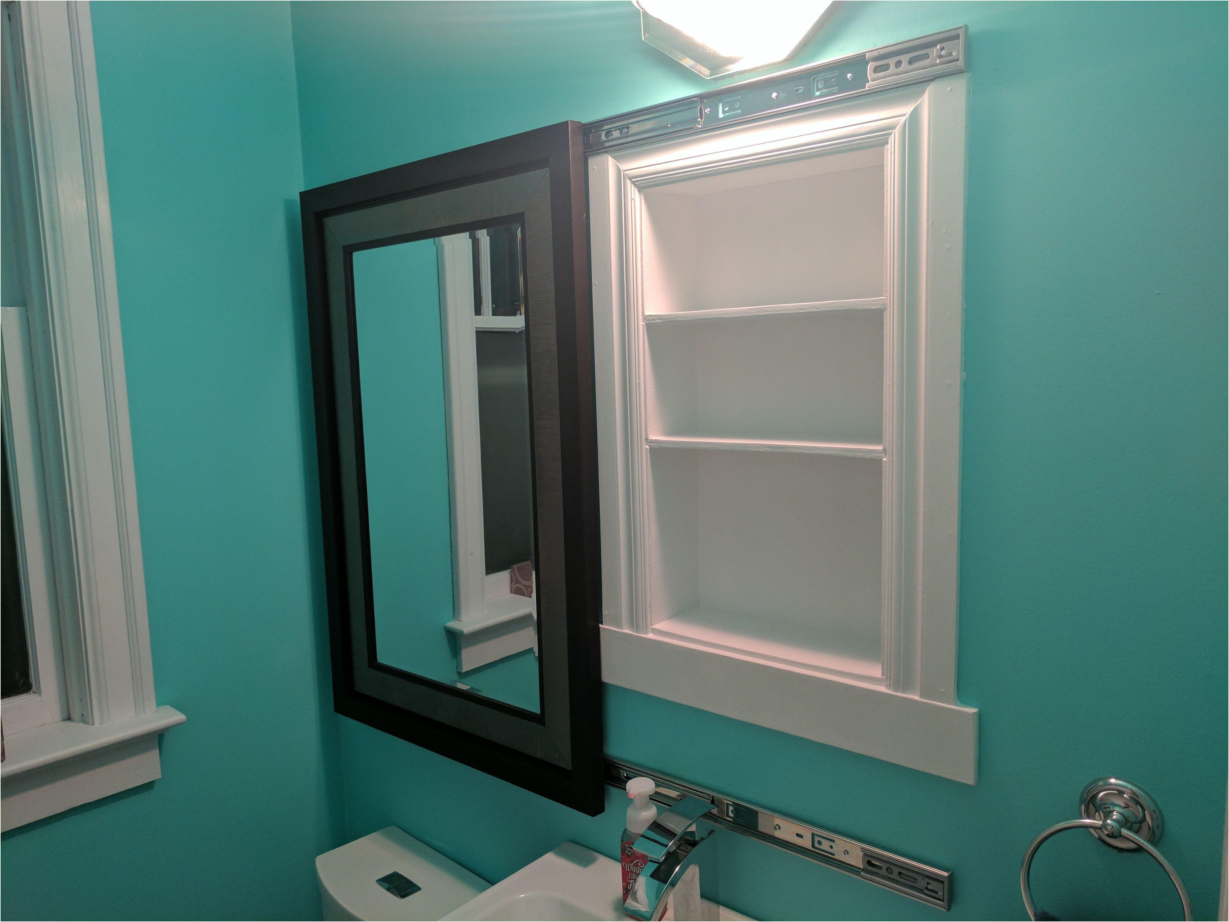 Luxury 4 Door Mirrored Bathroom Cabinet