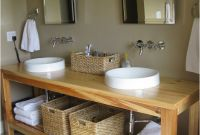 Fresh Wooden Bathroom Sink Stand