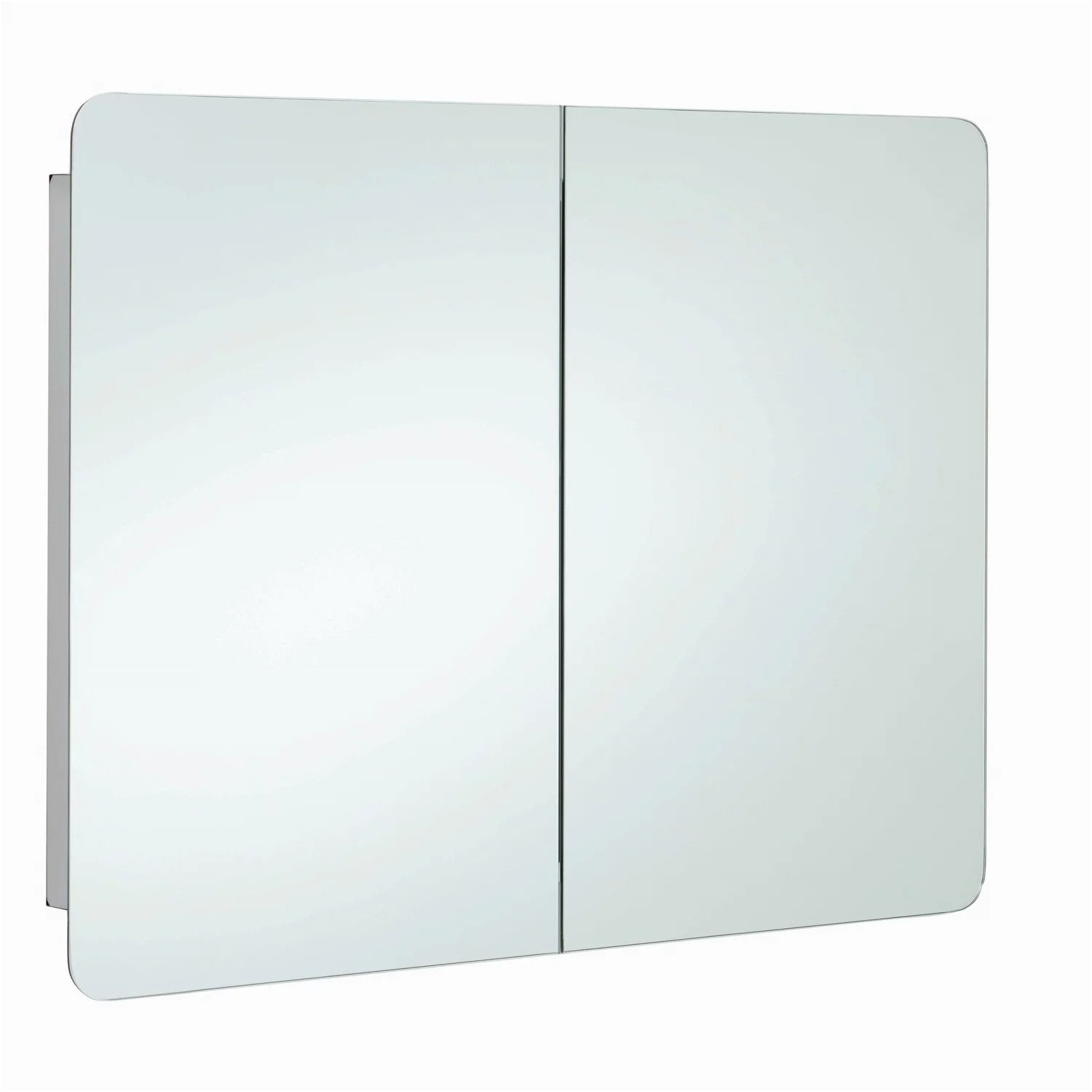 Elegant 800mm Wide Mirrored Bathroom Cabinet
