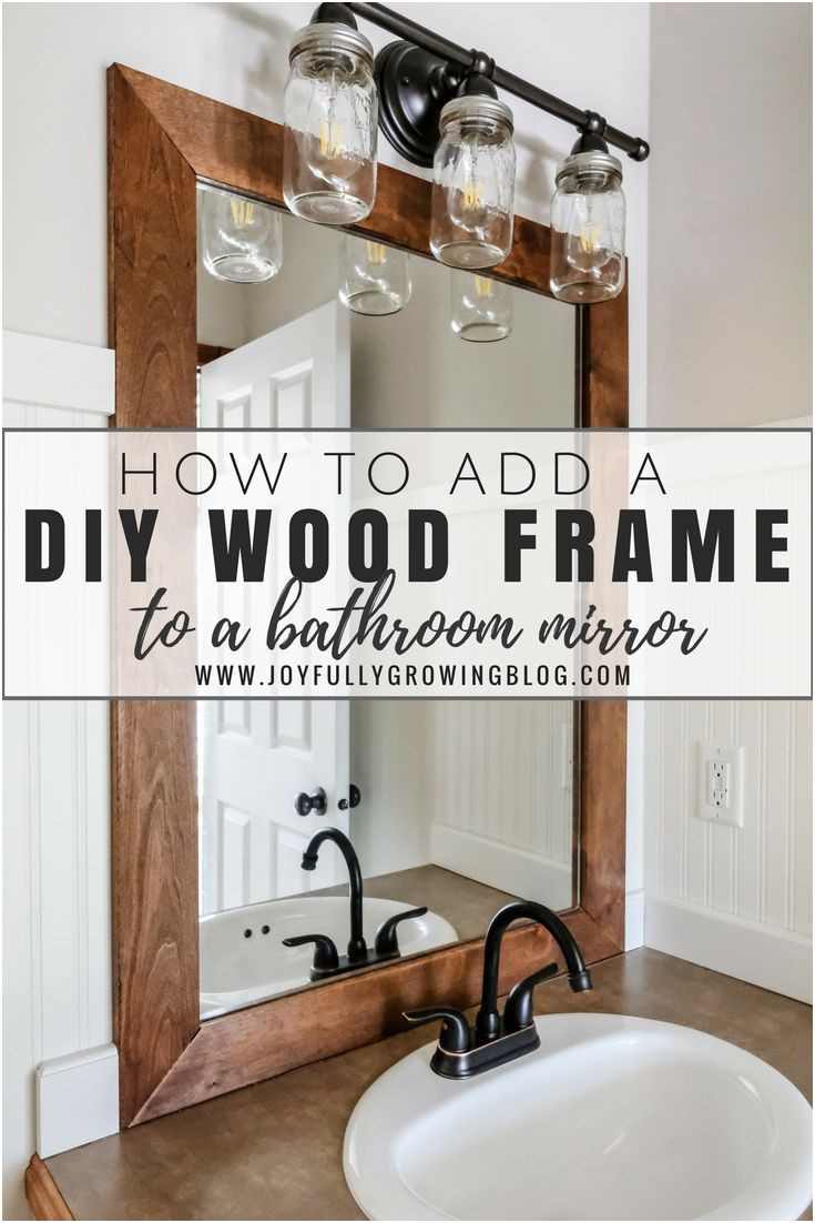 Add Frame to Mirrors Bathroom Awesome How to Add A Diy Wood Frame to A Bathroom Mirror