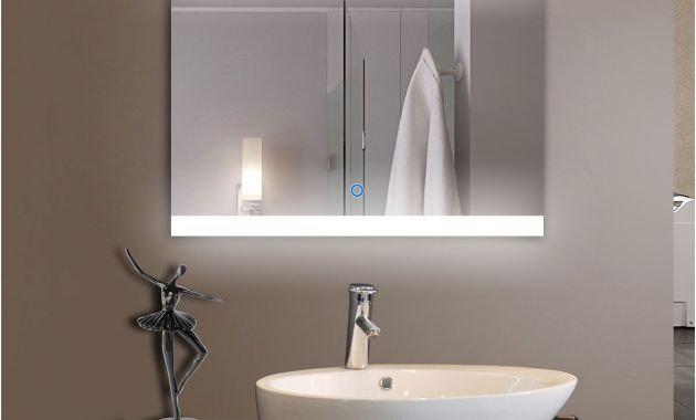 Bathroom Mirror with Lights and Shelf Elegant 36 X 28 In Horizontal Led Bathroom Silvered Mirror with touch button