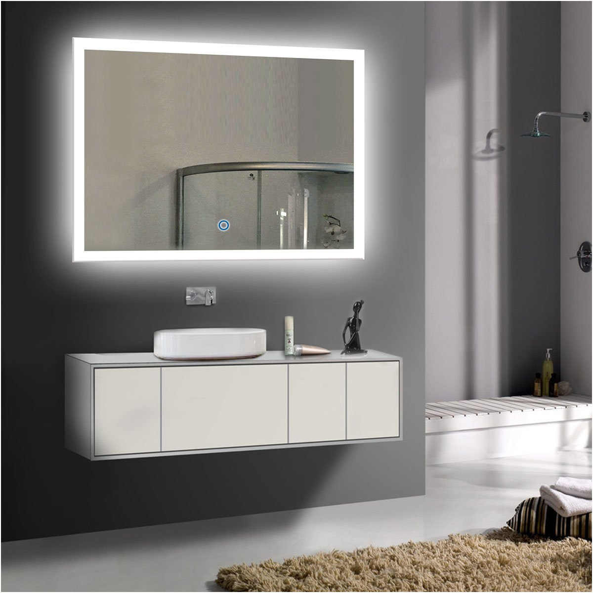 Elegant Bathroom Mirror with Lights Argos