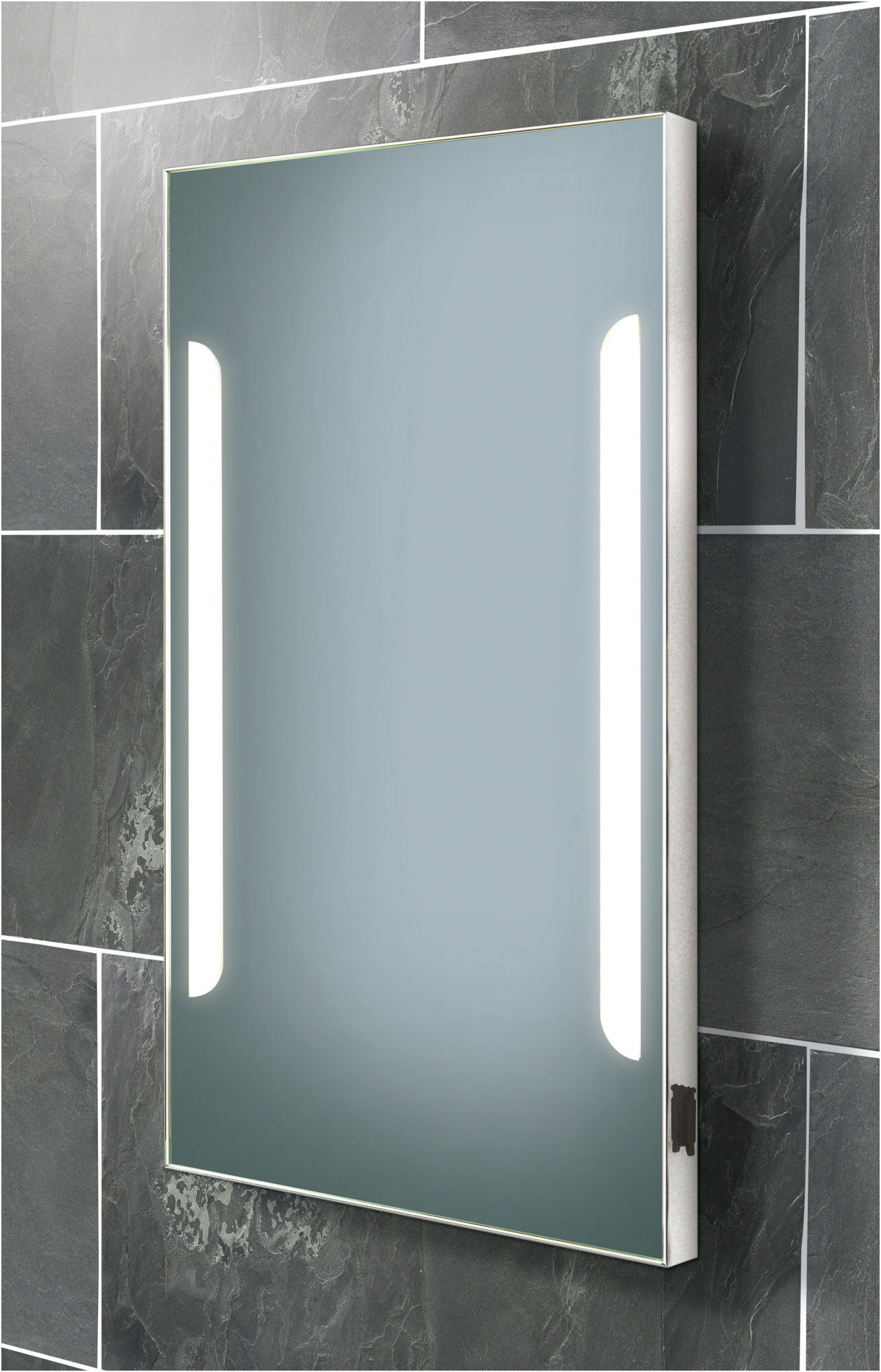 Elegant Bathroom Mirror with Shaving Point