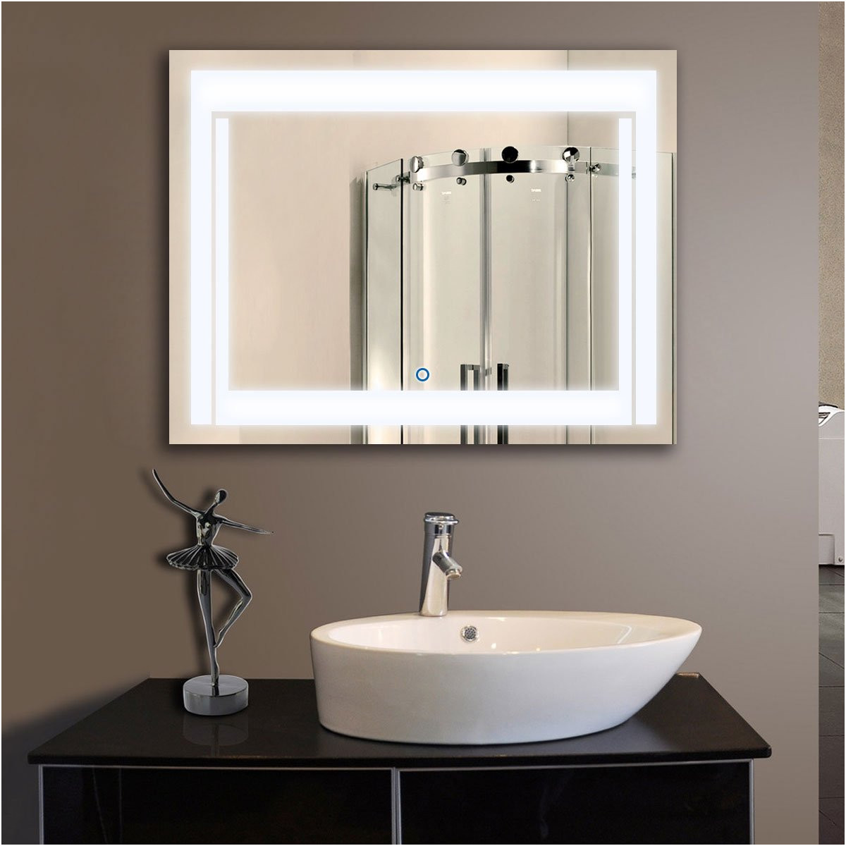 Bathroom Mirrors with Lights and Shelf Fresh Buy Vertical Led Lighted Vanity Bathroom Silvered Mirror touch