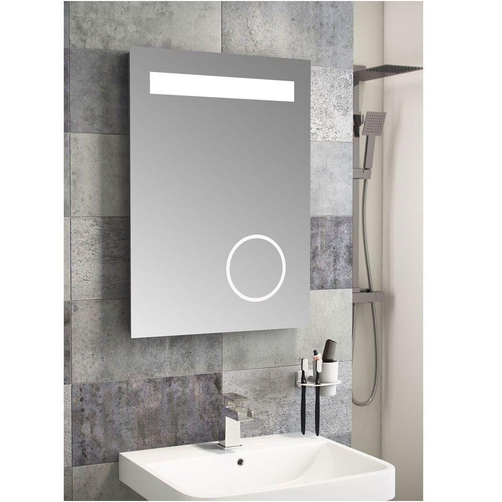 Bathroom Mirrors with Shaver sockets Awesome Cassellie Led Bathroom Mirror 500mm W X 700mm H with Magnifying