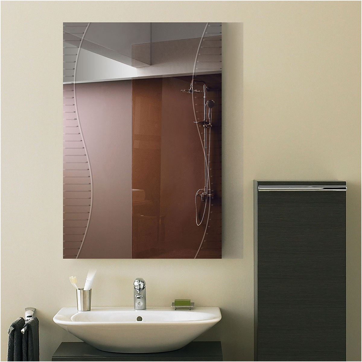 Unique Bathroom Wall Mirrors Cut to Size