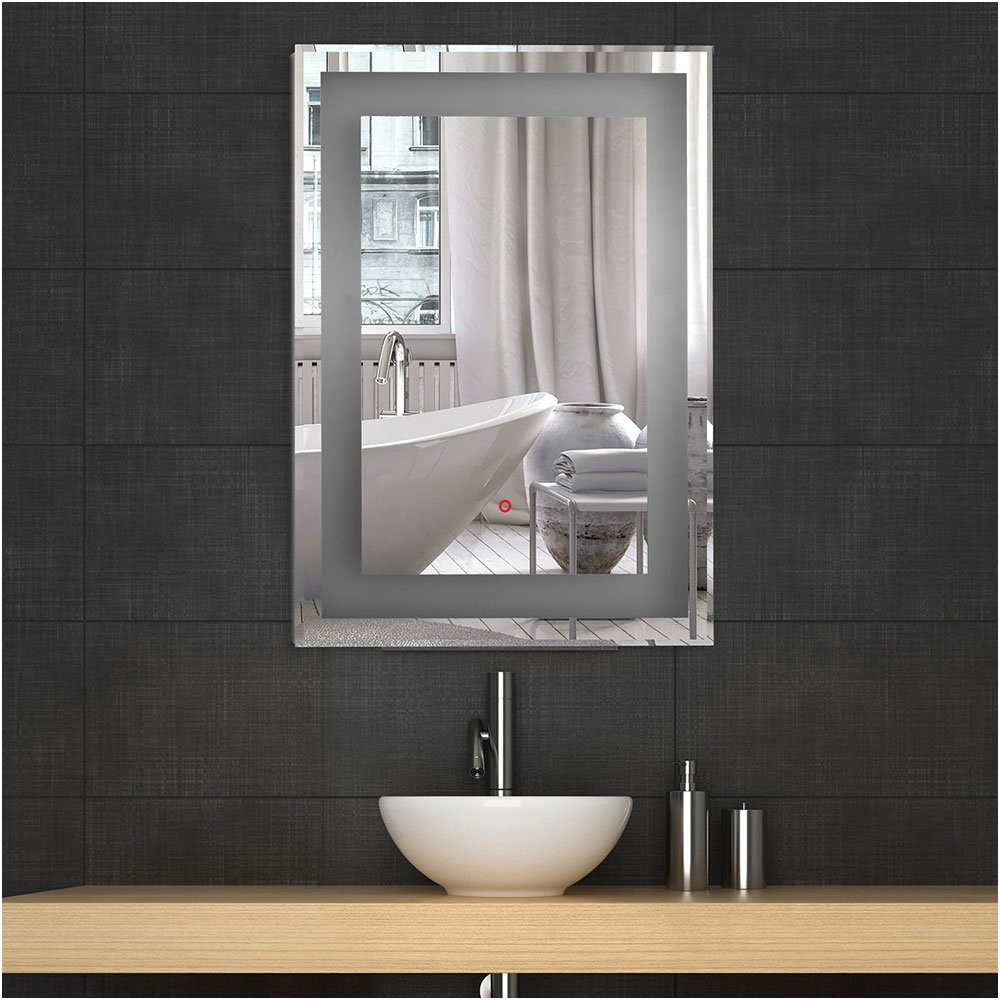 Bathroom Wall Mirrors No Frame Inspirational Amazon Decoraport Vertical Rectangle Led Bathroom Mirror