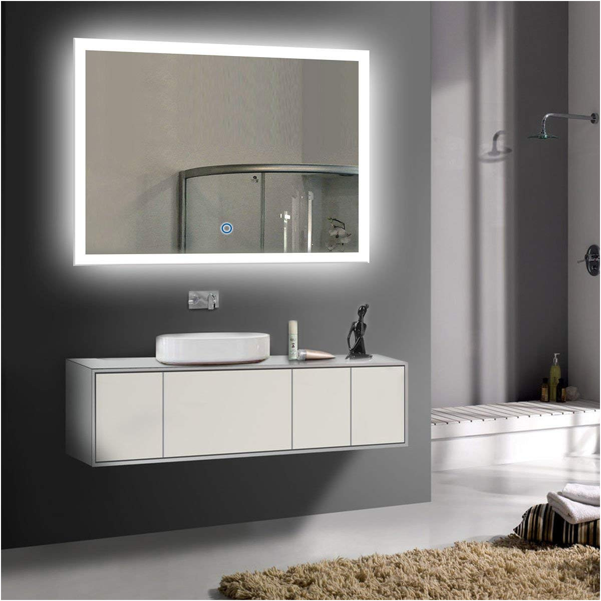 Luxury Bathroom Wall Mirrors No Frame