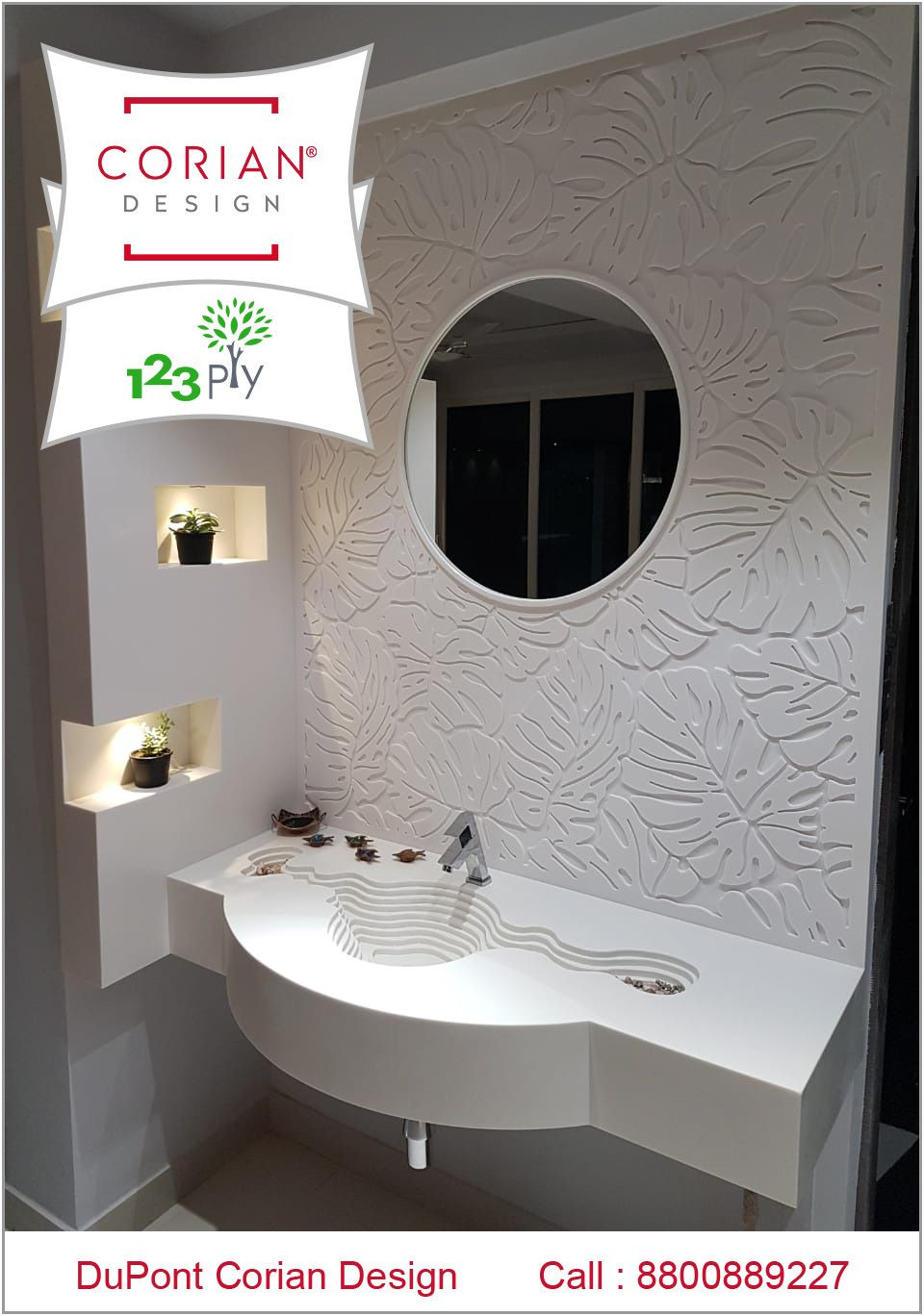 Fresh Corian Bathroom Sinks and Countertops