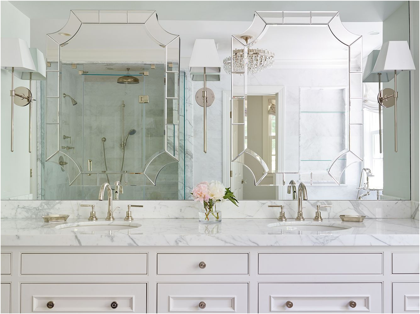 Fresh Custom Made Mirrored Bathroom Cabinets