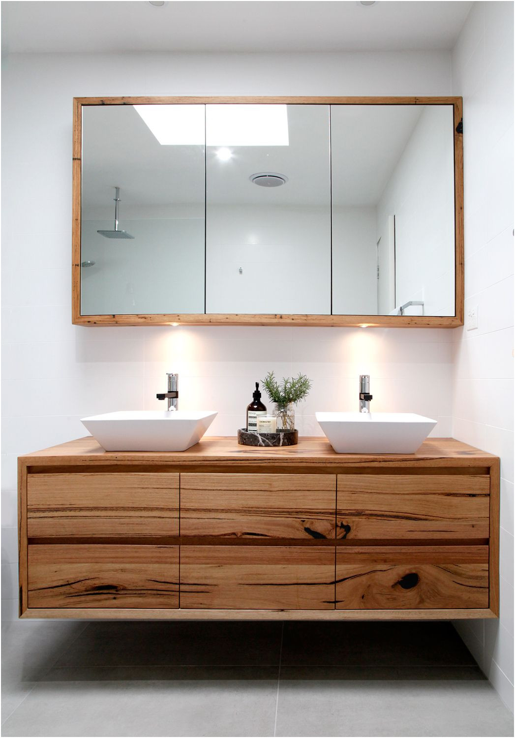 Custom Made Mirrored Bathroom Cabinets New Introducing the Iluka Wall Hung Recycled Timber Vanity