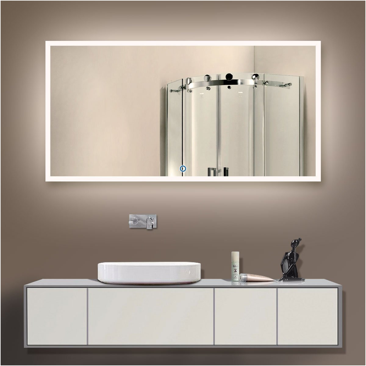 Extra Large Illuminated Bathroom Mirrors Elegant Long Led Bathroom Mirrors Mirror Style Backlit Round Porthole Tile