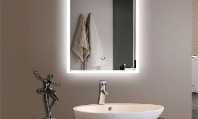 Frame Kits for Large Bathroom Mirrors Beautiful Amazon 55 X 36 In Horizontal Led Bathroom Silvered Mirror with
