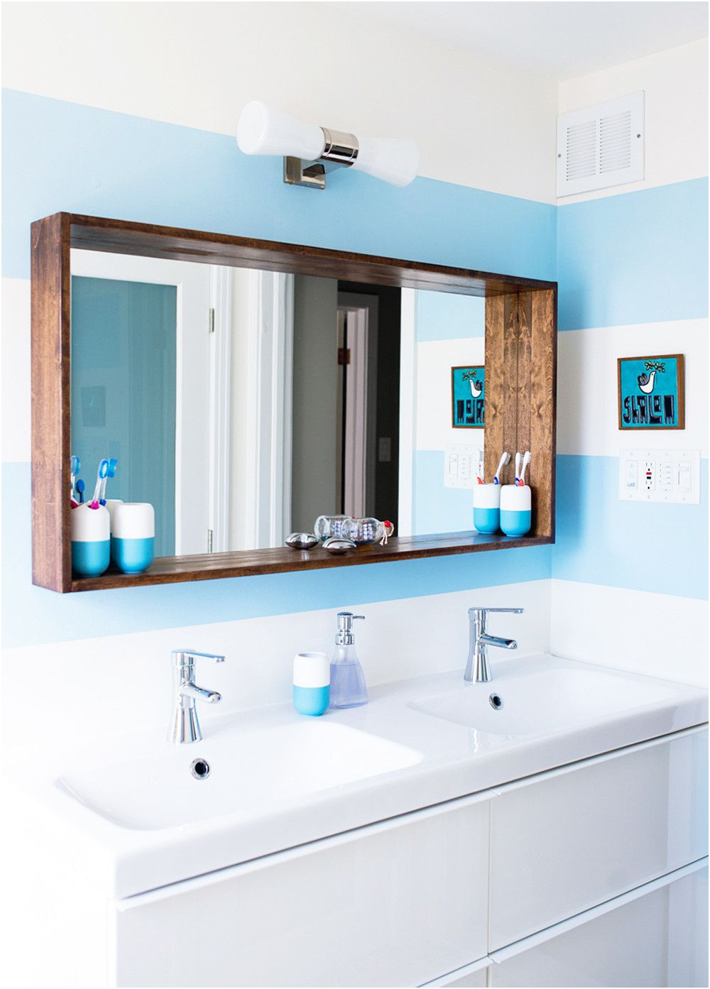 Unique Frame Kits for Large Bathroom Mirrors