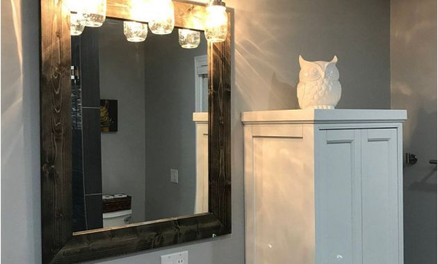 Frames for Existing Large Bathroom Mirrors Awesome Black Mirror Wood Framed Mirror Rustic Wood Mirror Bathroom