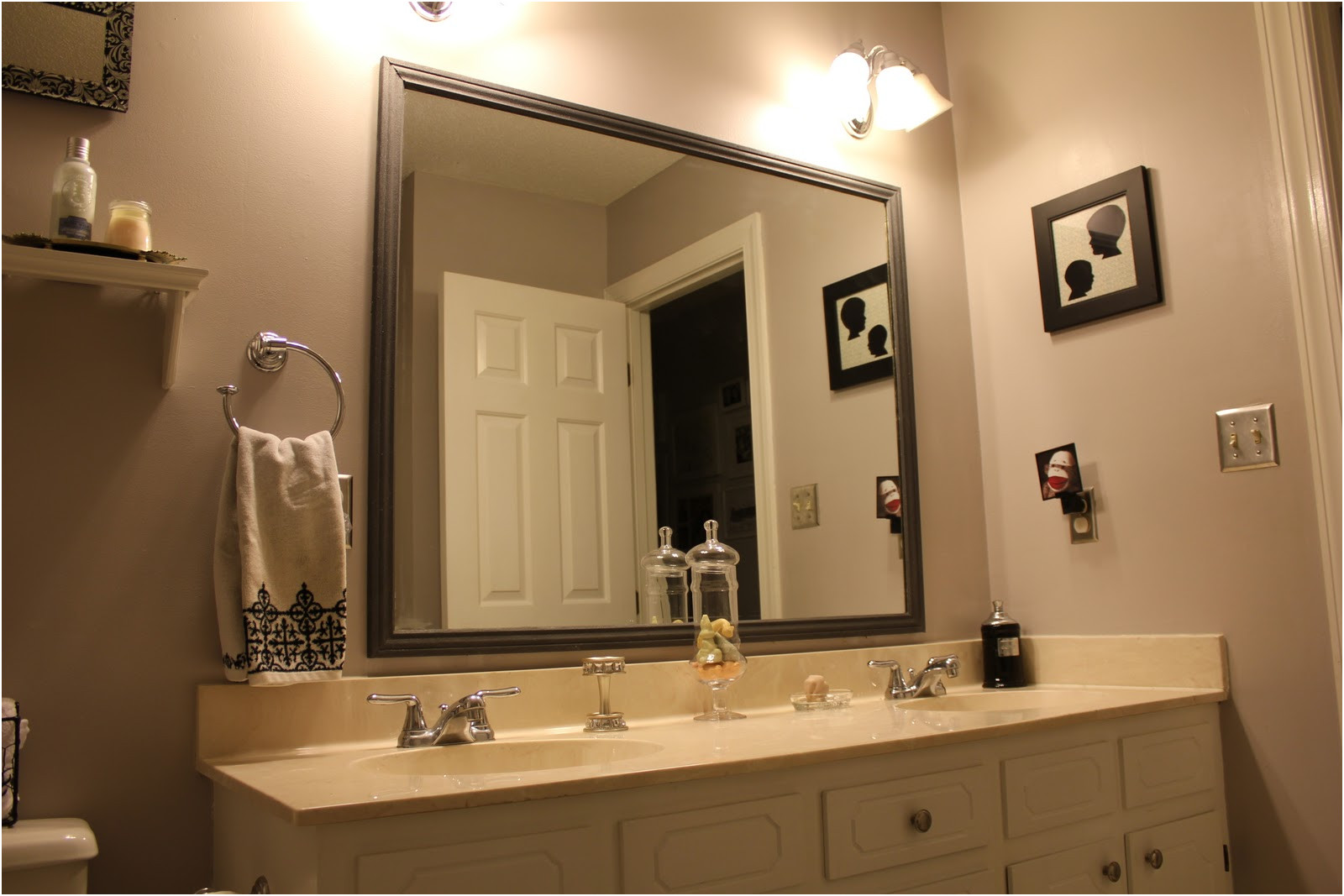 New Frames for Existing Large Bathroom Mirrors