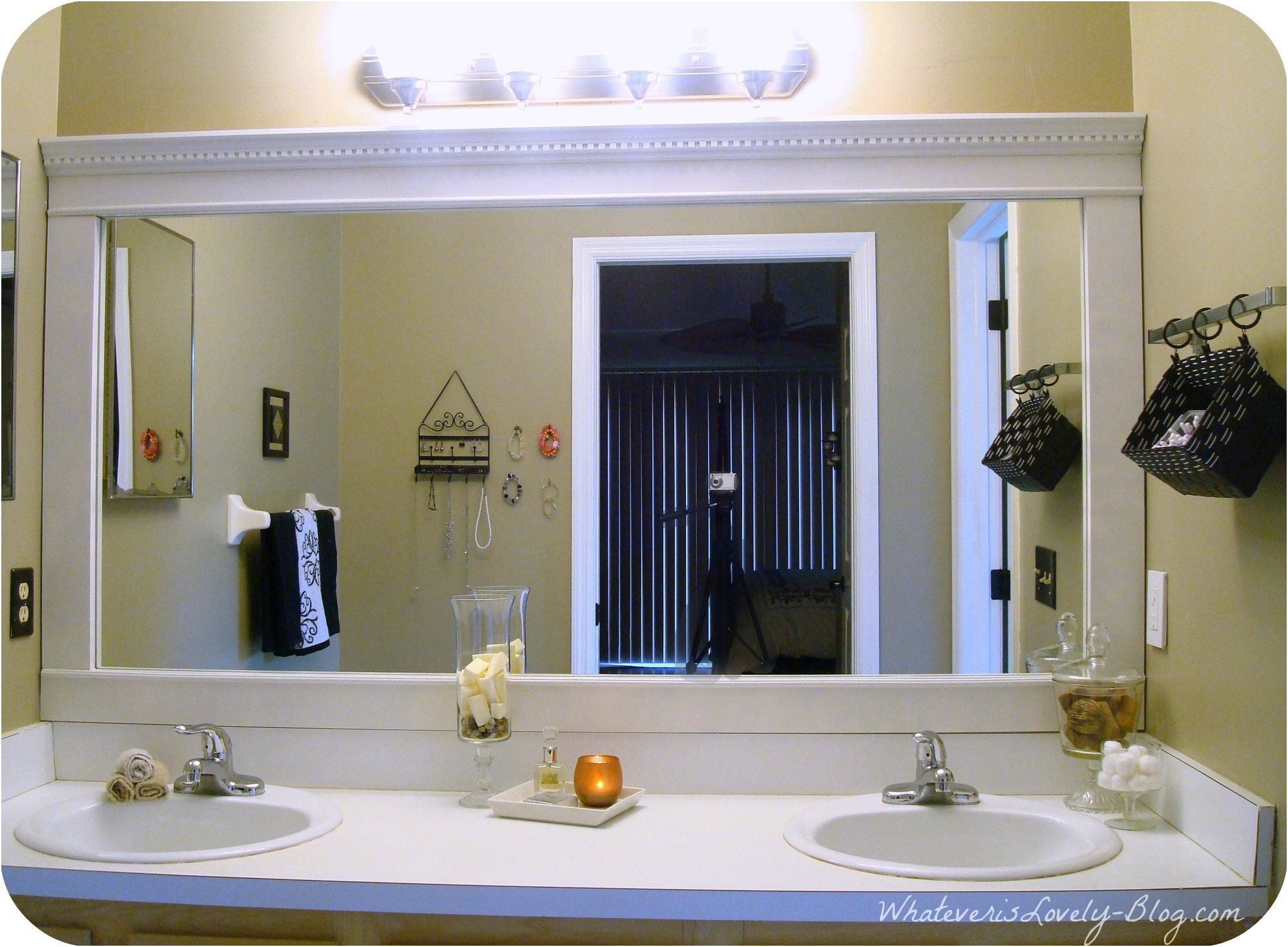 Framing Large Mirror In Bathroom Inspirational Diy Framing Bathroom Mirror Diy Decorating