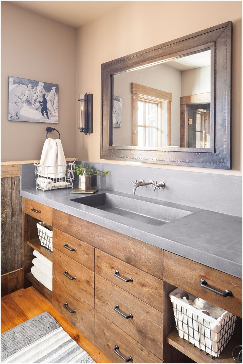 French Farmhouse Style White Bathroom Sink Units Inspirational Refined Rustic Bathroom Home Ideas