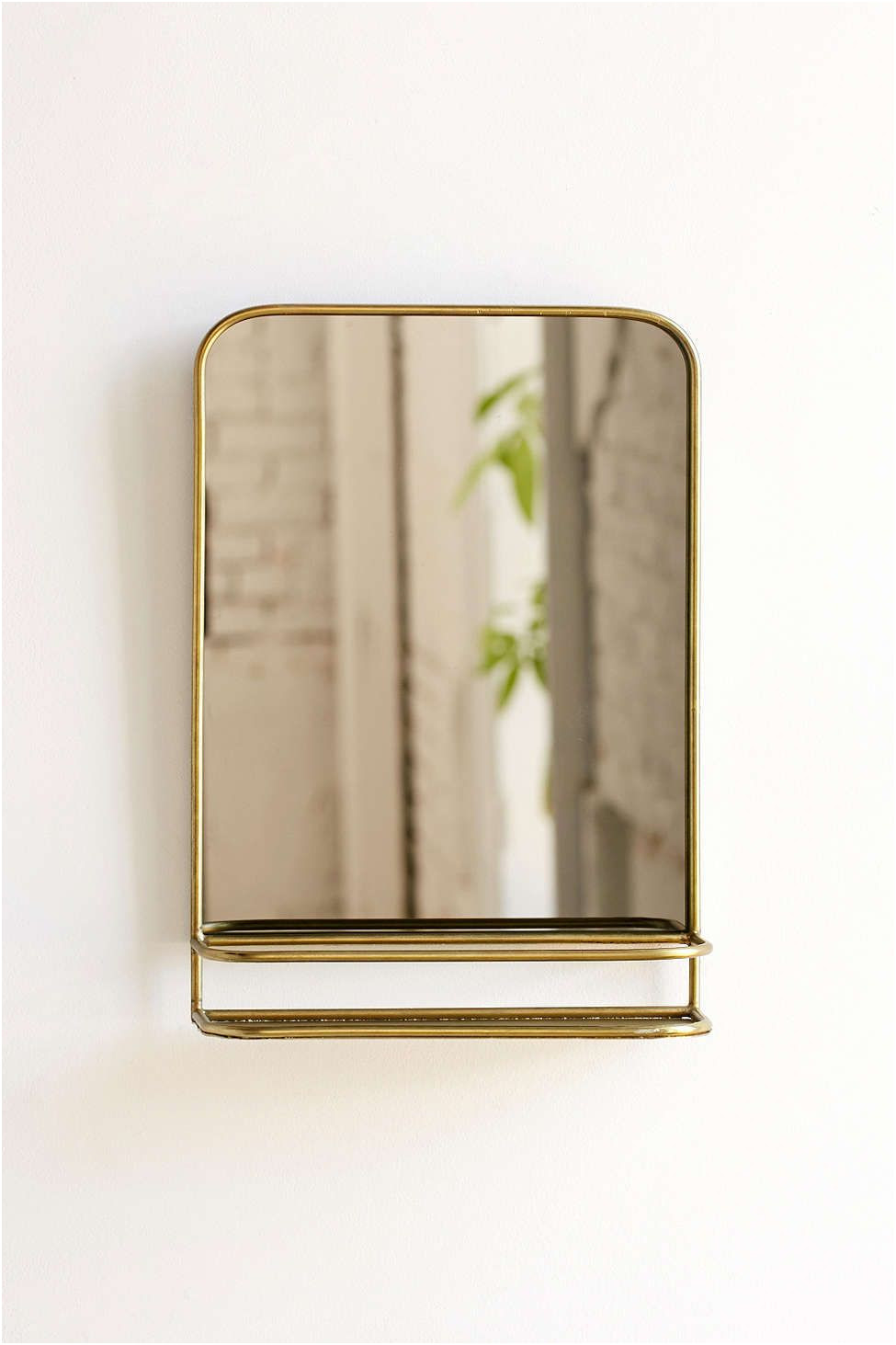 Luxury Gold Bathroom Mirror with Shelf