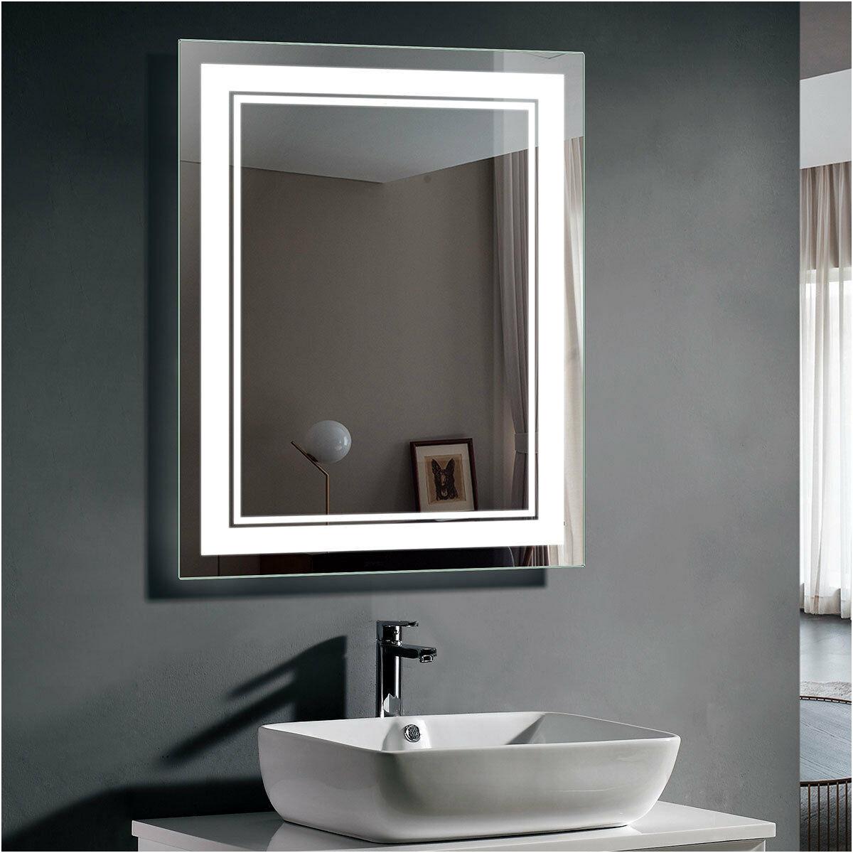 Unique Illuminated Bathroom Mirror 800mm Wide