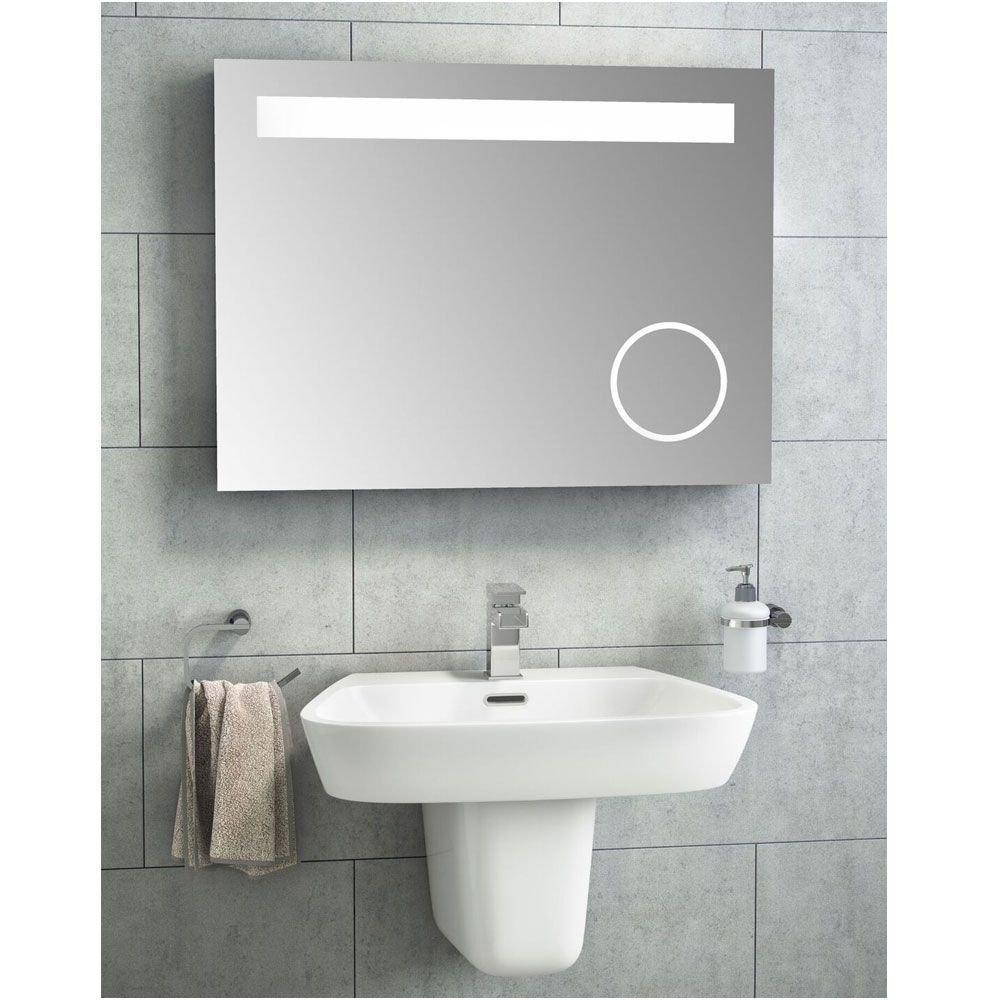 Illuminated Bathroom Mirror 800mm Wide New Cassellie Led Bathroom Mirror 800mm W X 600mm H with Magnifying