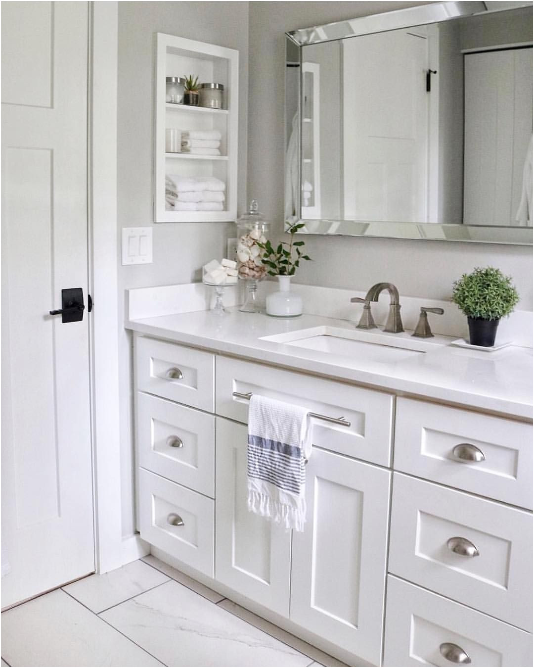 Unique Mirrored Bathroom Cabinet with Shelf