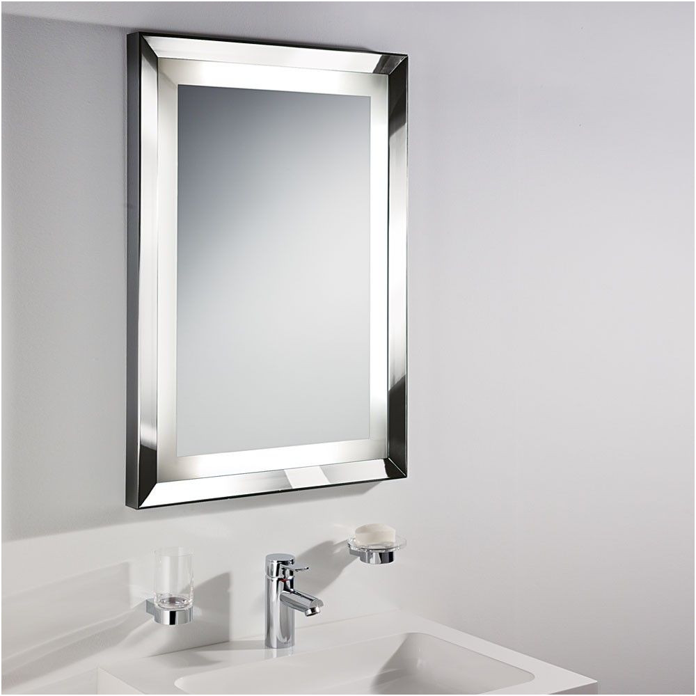 Beautiful Rectangular Bathroom Wall Mirror with Beveled Edge