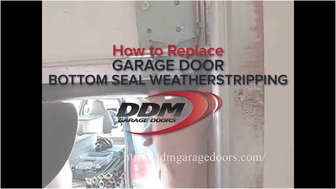 Replacing Garage Door Seal New How to Replace Garage Door Bottom Seal Weatherstripping