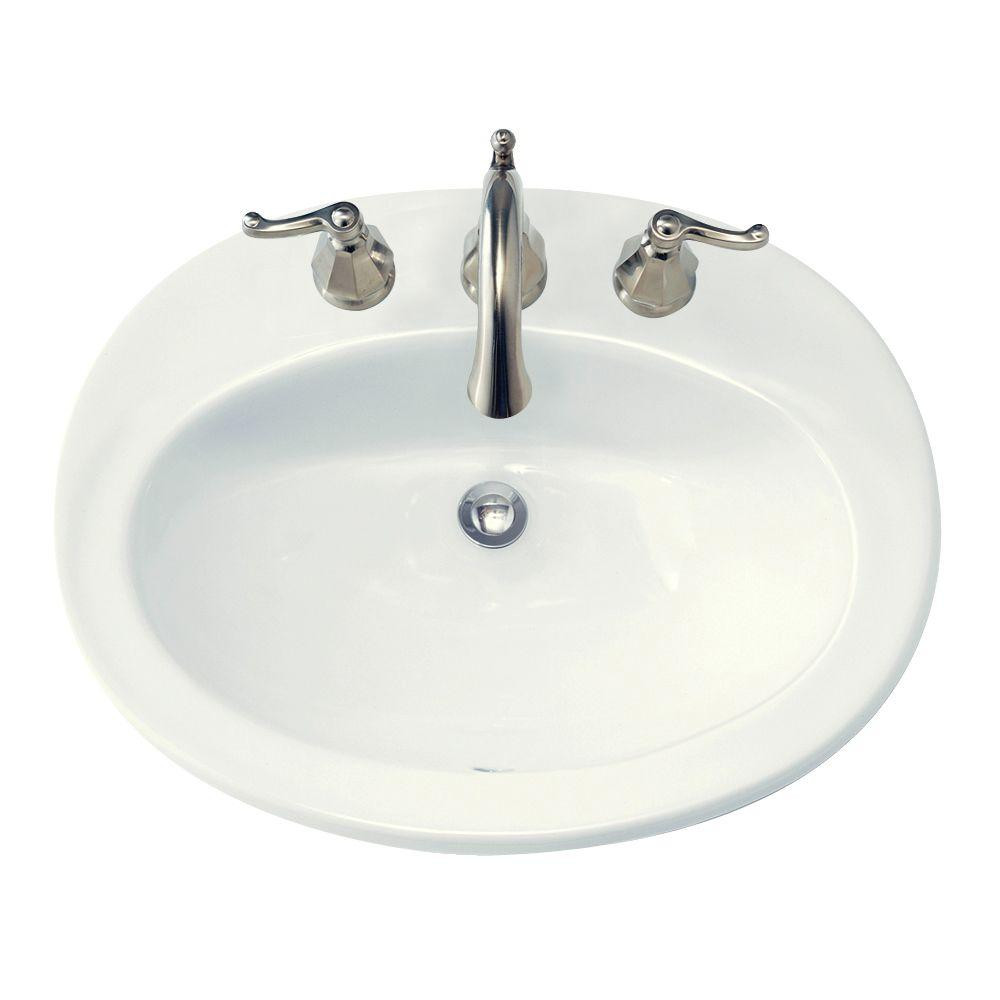Self Rimmed Bathroom Sink Best Of American Standard Piazza Self Rimming Bathroom Sink In White