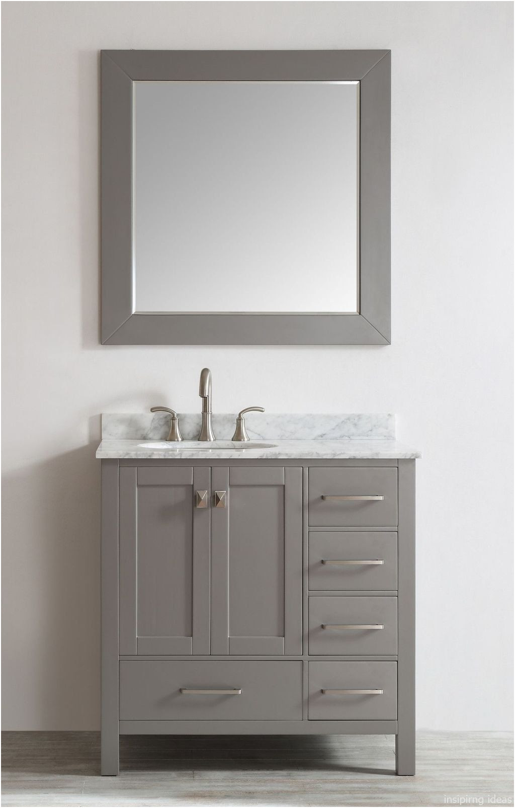 Lovely Small White Mirrored Bathroom Cabinet