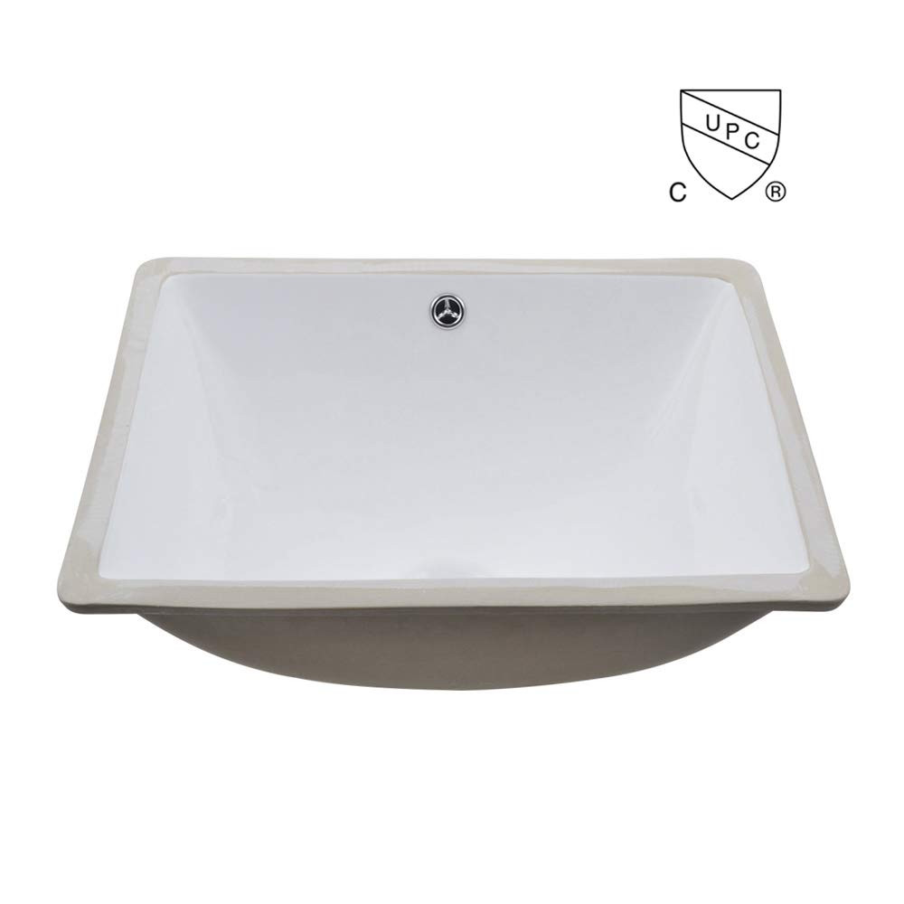 Square Undermount Stainless Steel Bathroom Sinks Luxury Kes Cupc Bathroom Rectangular Porcelain Undermount Sink White