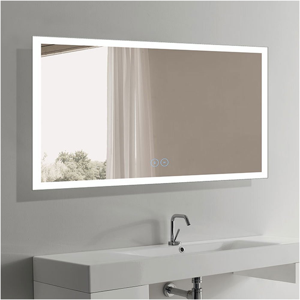 Stop Bathroom Mirror Steaming Up Luxury Amazon Decoraport 60 X 36 In Horizontal Led Bathroom Mirror