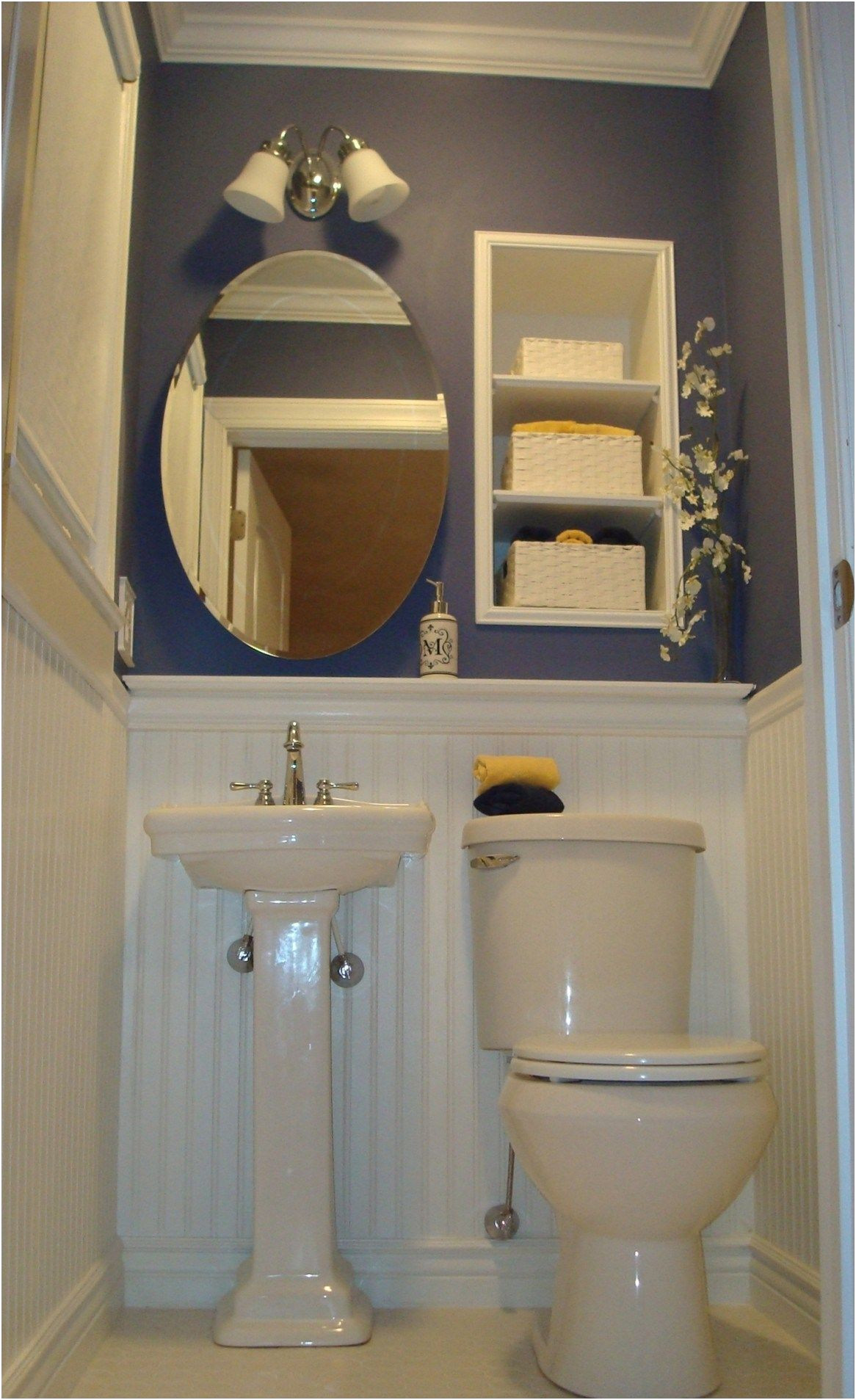 Inspirational Storage Ideas for Bathroom with Pedestal Sink