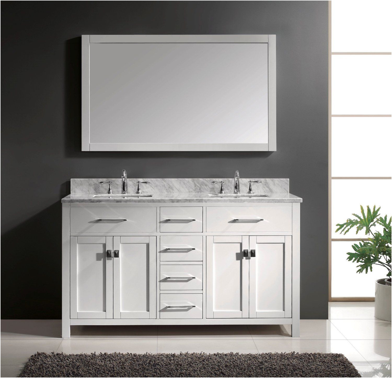 Elegant Virtu Ava 48 Inch Single Sink White Bathroom Vanity Set