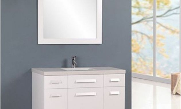 "Virtu Ava 48 Inch Single Sink White Bathroom Vanity Set Best Of Design Element 48"" Moscony Single Sink Vanity Set In White or"
