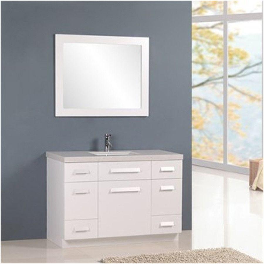 "Virtu Ava 48 Inch Single Sink White Bathroom Vanity Set Best Of Design Element 48"" Moscony Single Sink Vanity Set In White or"