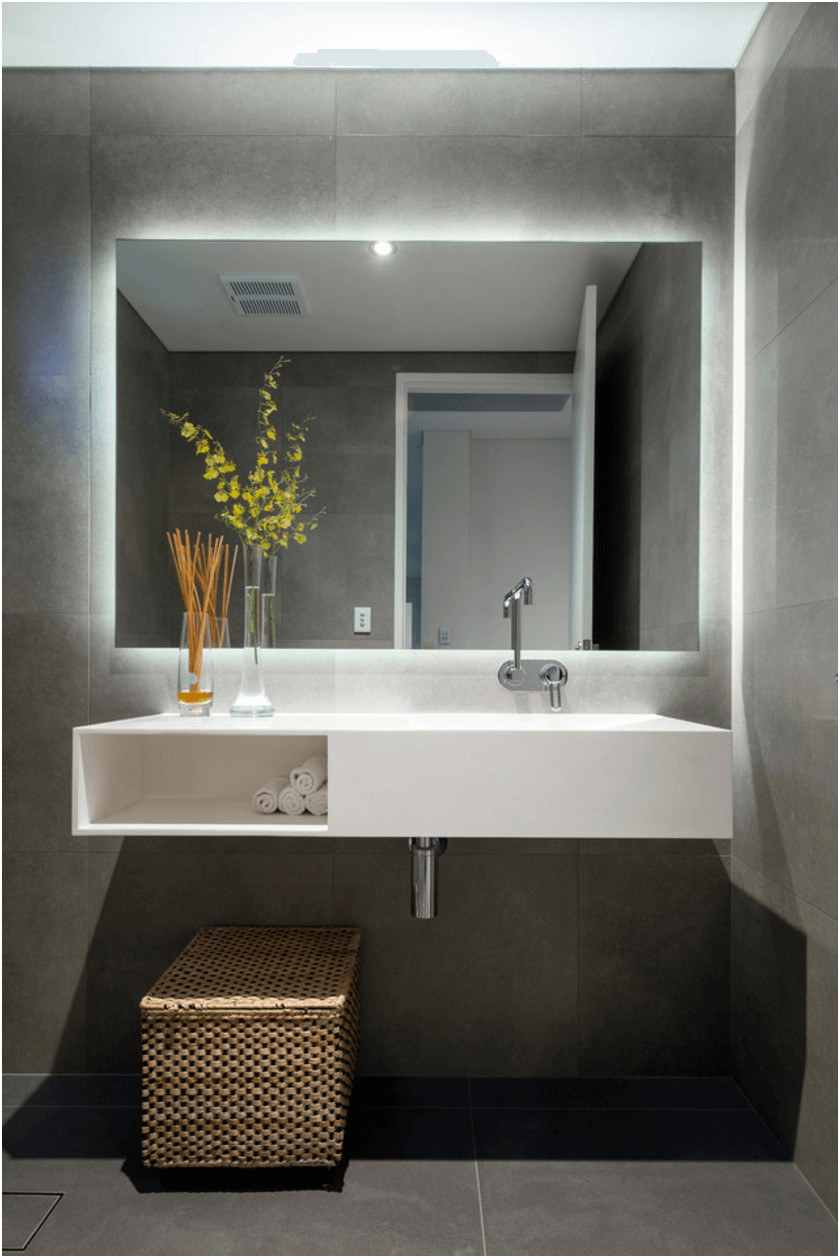 Beautiful Wide Bathroom Mirrors with Lights