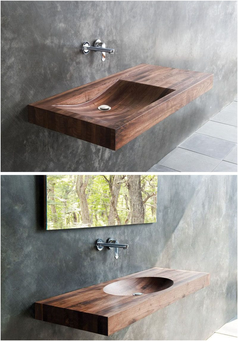Beautiful Wooden Sinks for Bathroom