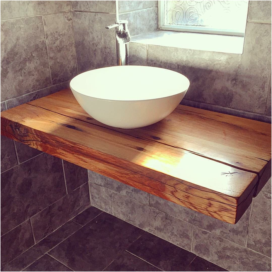 Wooden Sinks for Bathroom Luxury Our Floating Bathroom Shelf with Vessel Bowl Sink Handcrafted Wood