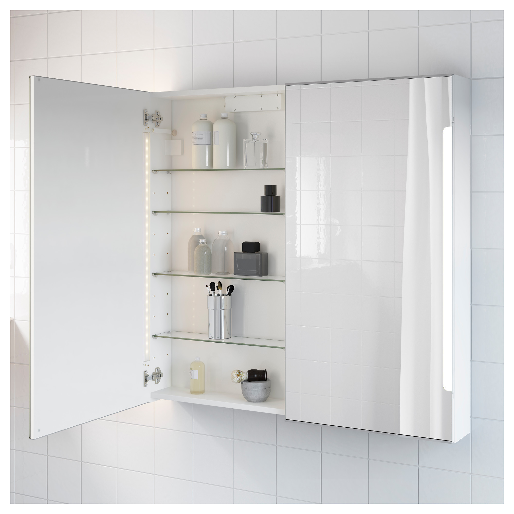 Zeus Illuminated Bathroom Mirror Cabinet Elegant Ikea Storjorm Mirror Cabinet W 2 Doors & Light White
