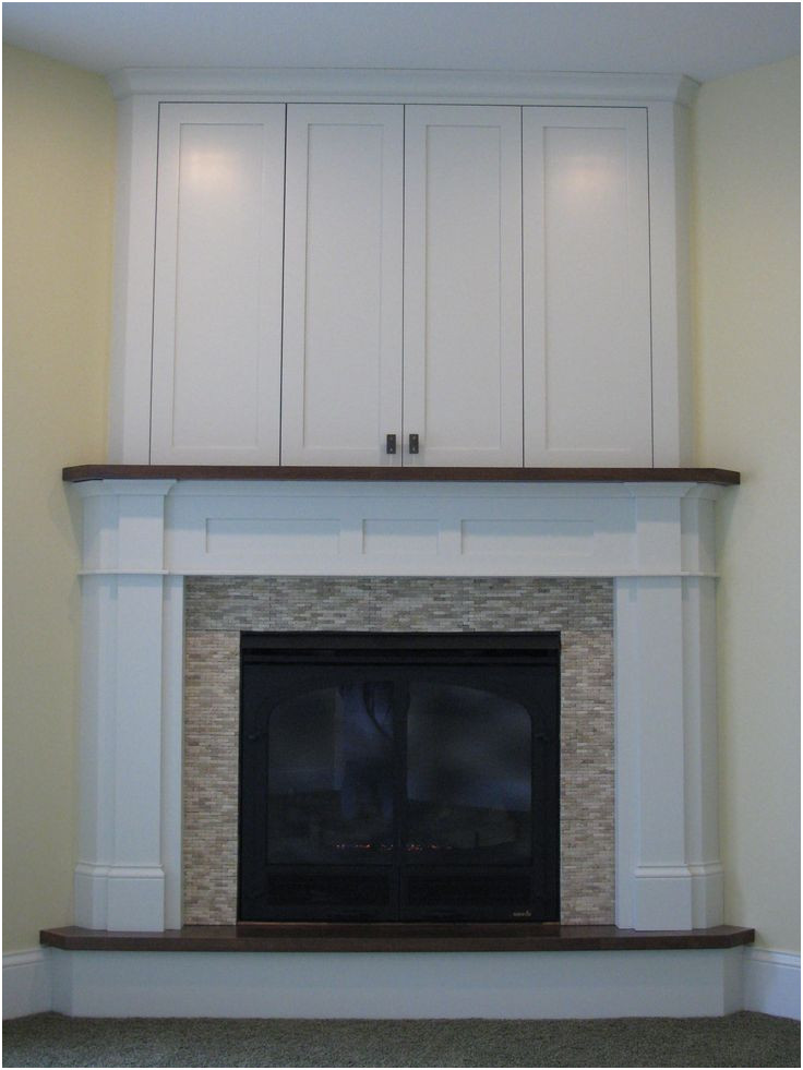 New before and after Fireplace Remodel