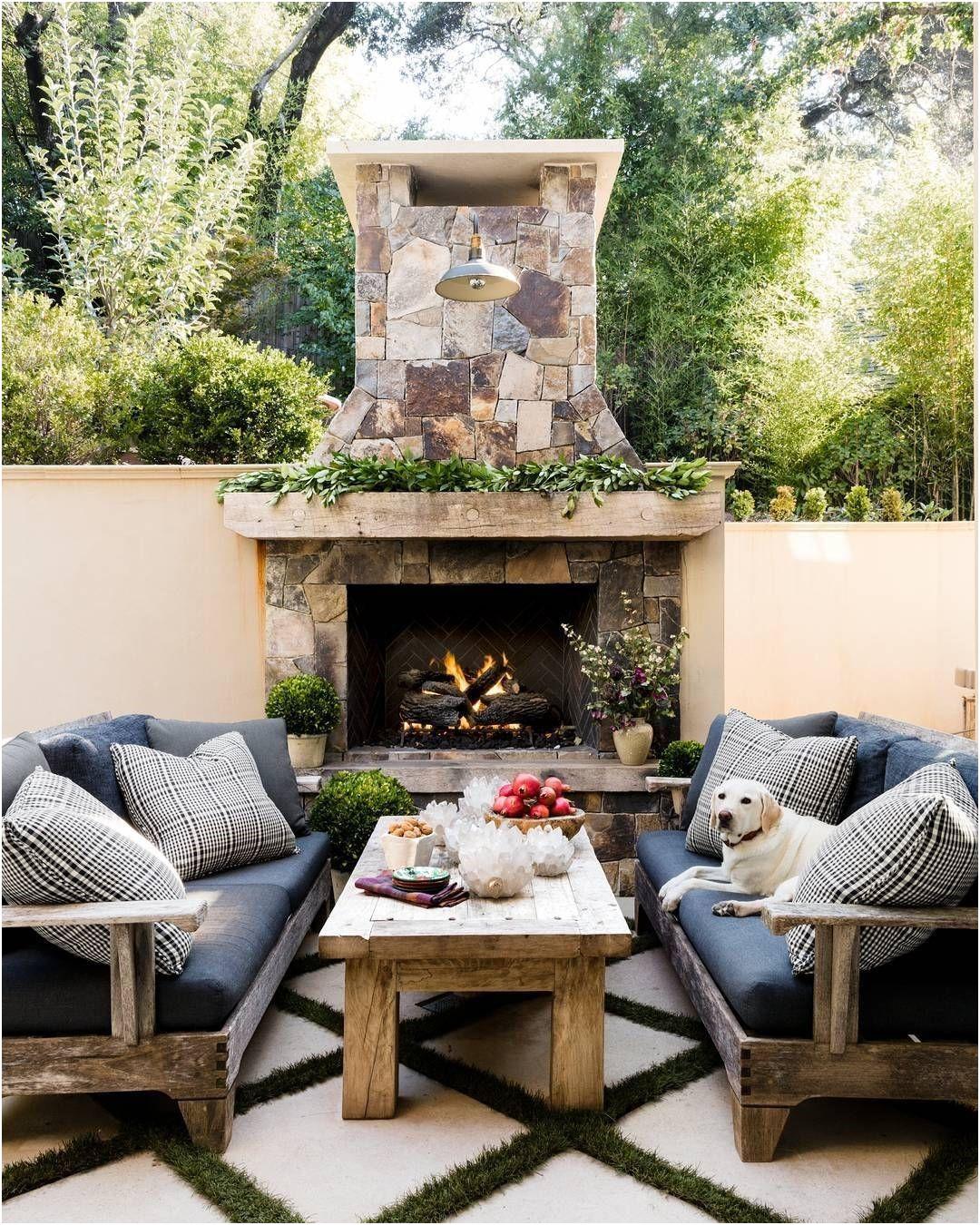 Backyard Ideas with Fireplace Awesome Patio Fireplace Idea the Simple Gardener