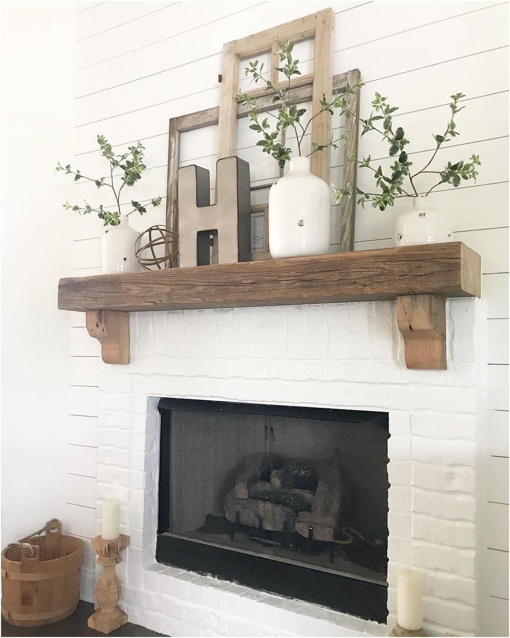 Decorating Ideas for the Fireplace Mantel Awesome 39 Cozy Fireplace Decor Ideas for White Walls