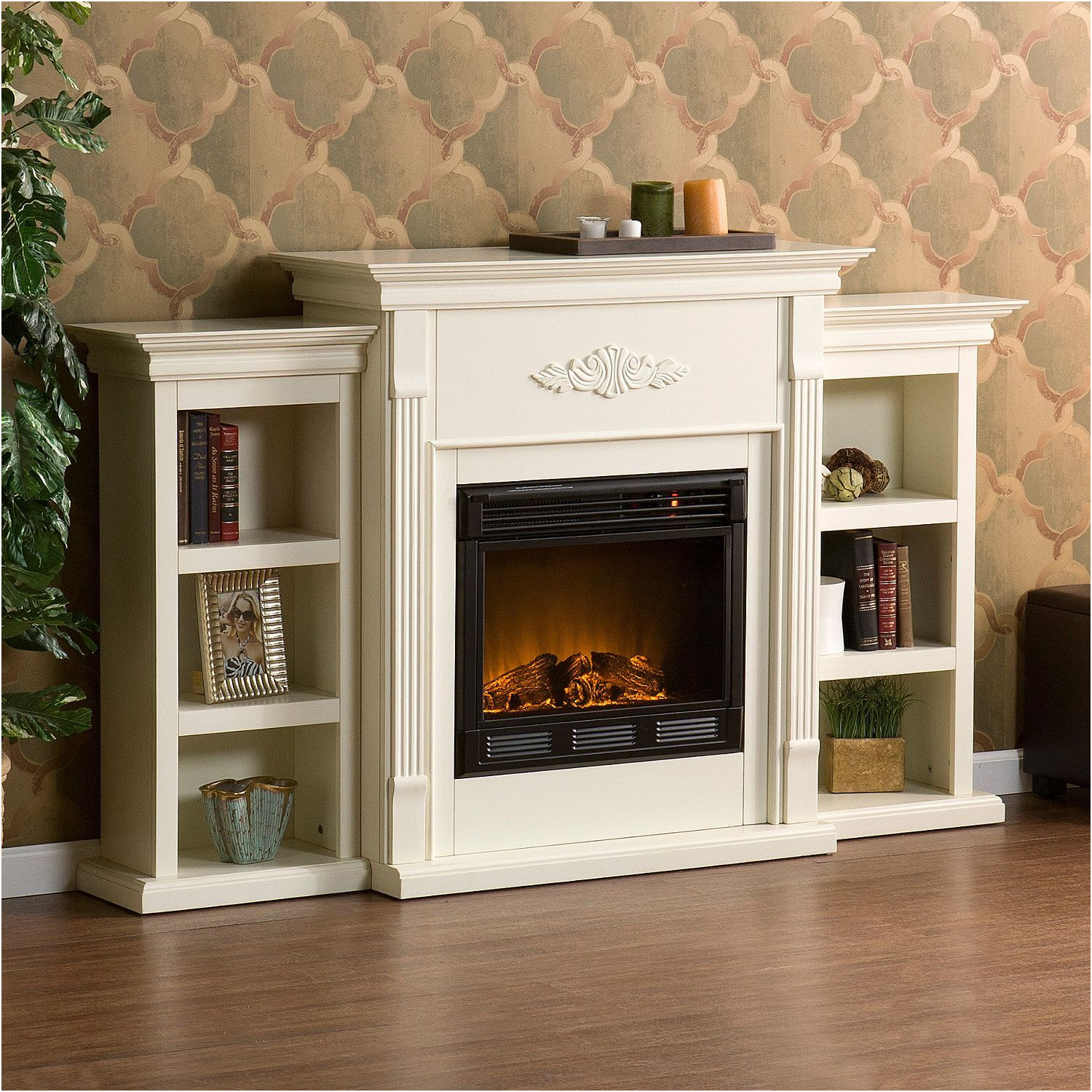 Electric Fireplace Idea New Emerson Electric Fireplace Ivory Sam S Club