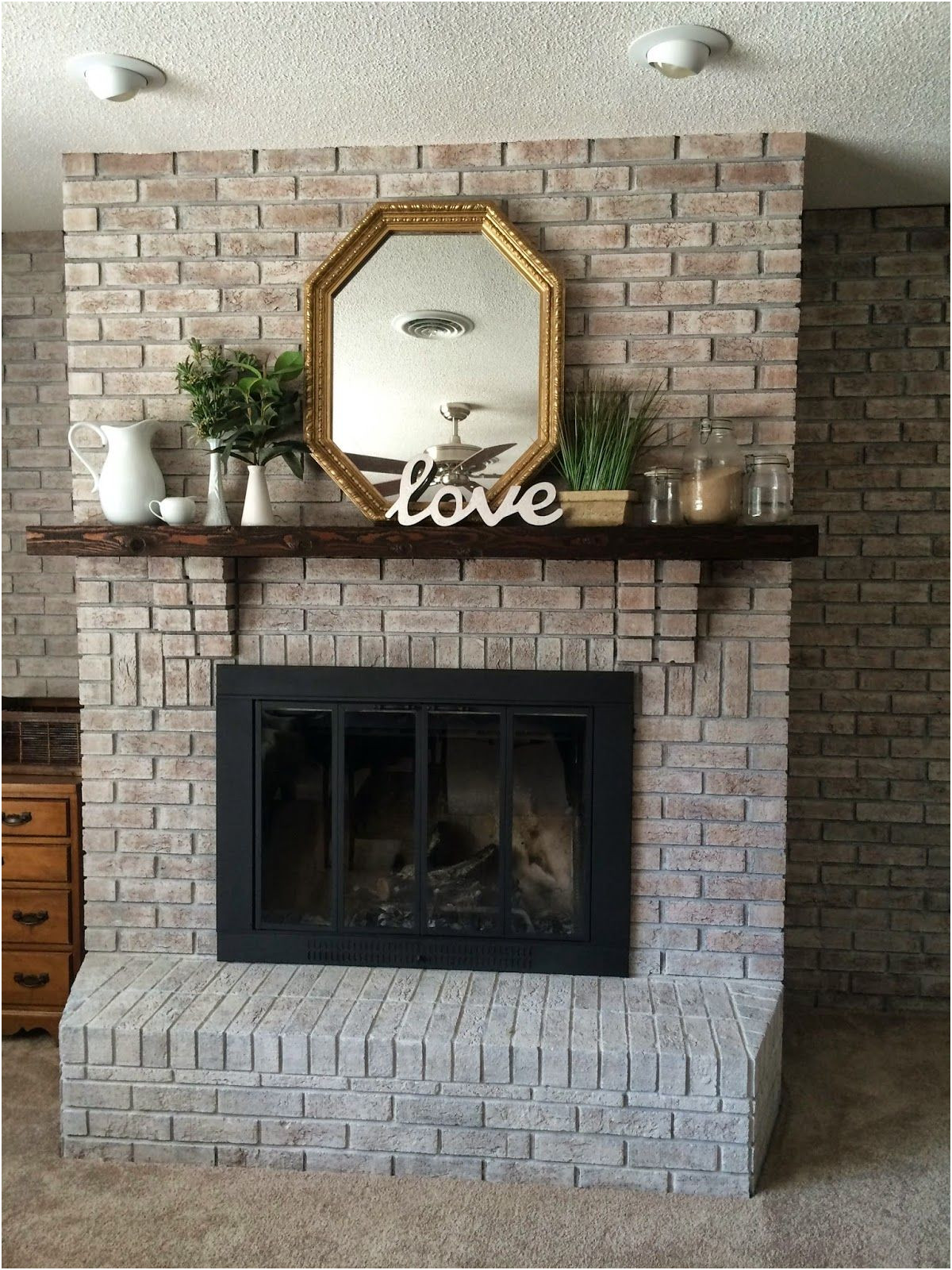 Fireplace Brick Paint Ideas Beautiful White Washing Brick with Gray Beige Walking with Dancers