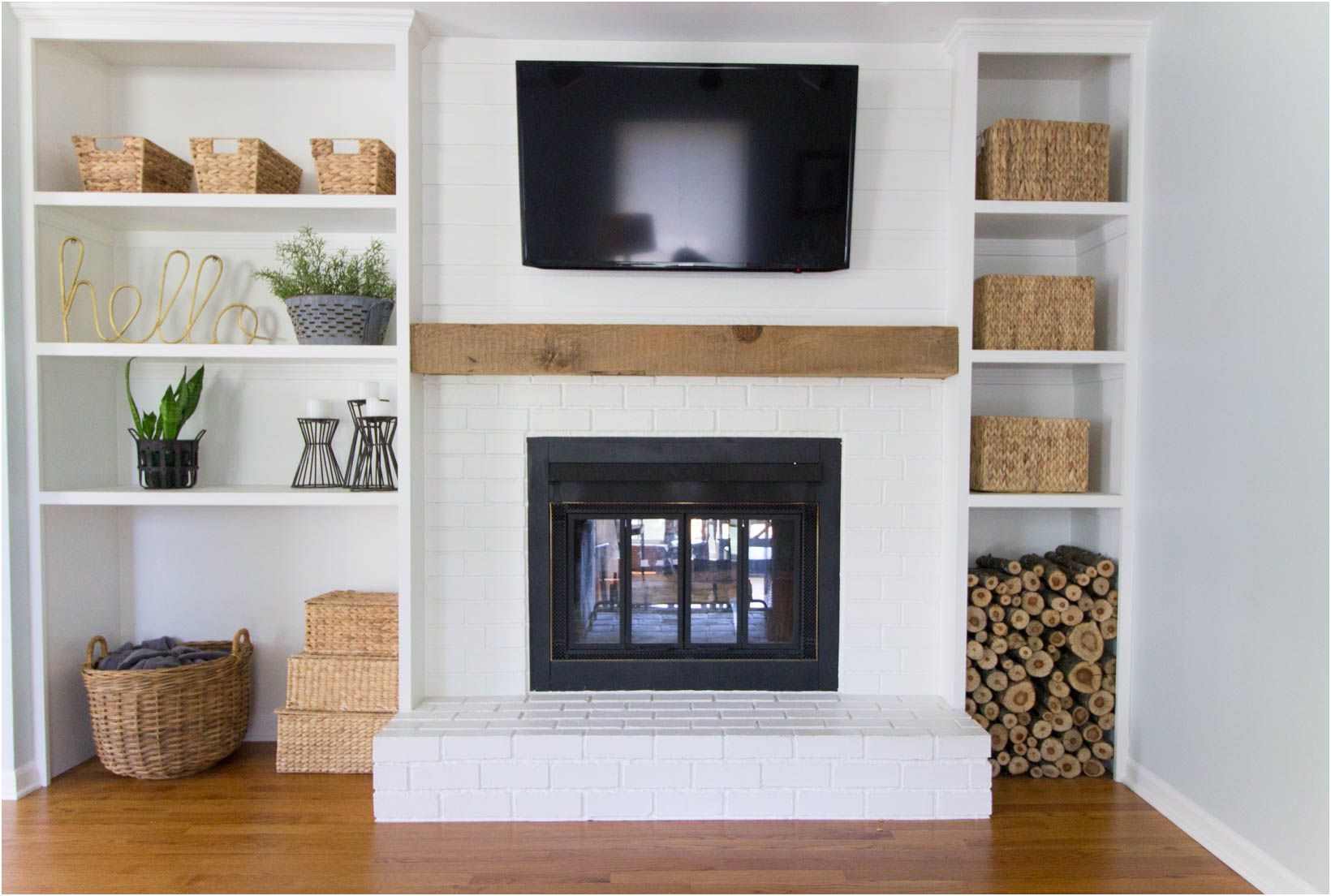 Awesome Fireplace Brick Remodel