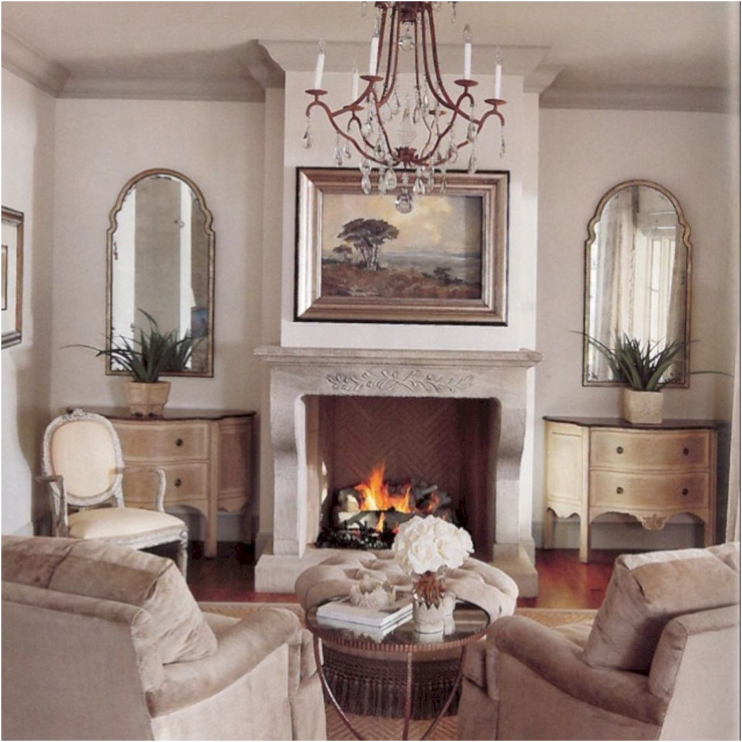 Elegant Fireplace Design In Living Room