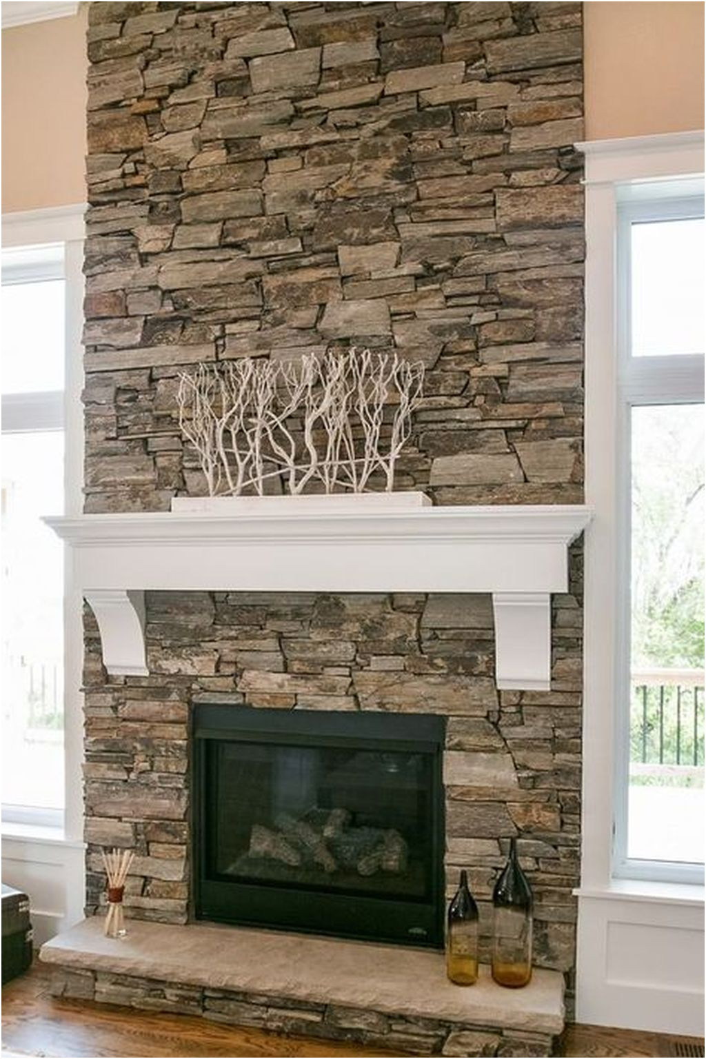 Unique Fireplace Design Stone