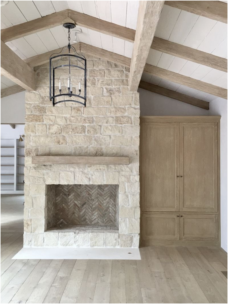 Elegant Fireplace Design with Stone